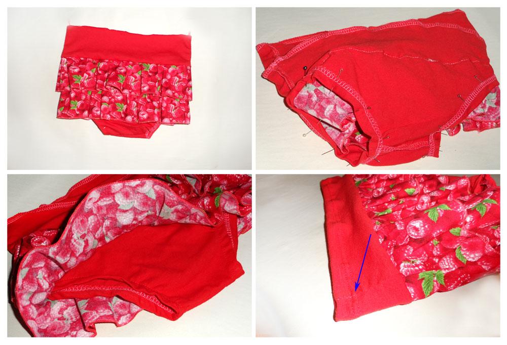 tutorial diaper cover ruffled frill