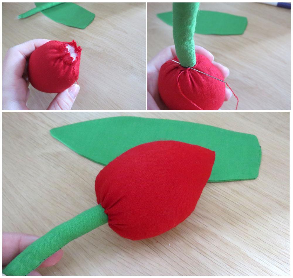 sewing tutorial fabric tulip