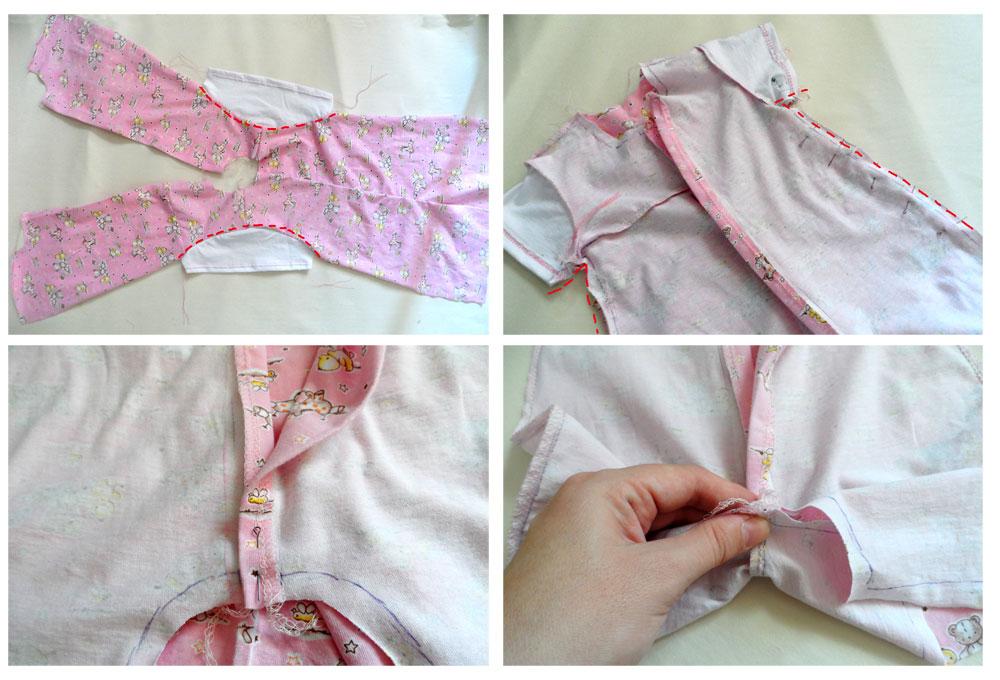 baby romper sew
